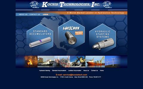 Screenshot of Home Page kocsistech.com - kocsistech.com - captured Oct. 6, 2014