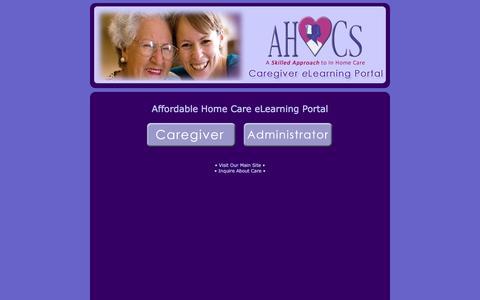 Screenshot of Login Page affordablehomecare.com - Affordable Home Care Solutions - eLearning Portal - Phoenix and Scottsdale Caregivers - captured Nov. 20, 2016