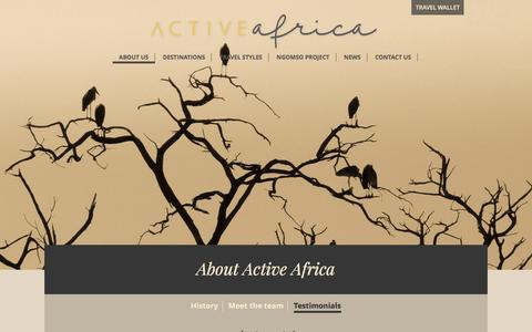 Screenshot of Testimonials Page activeafrica.co.za - Testimonials | Active Africa - captured May 29, 2017