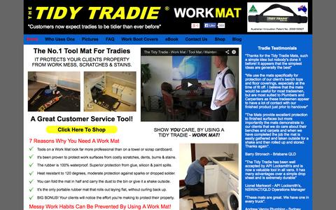 Screenshot of Home Page tidytradie.com.au - The Tidy Tradie - Work Mat | The No.1 Tool Mat For Tradies - Australia - captured Oct. 6, 2014