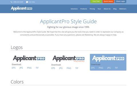 Style Guide - ApplicantPro