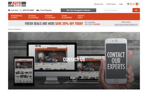 Screenshot of Contact Page autoanything.com - Contact Us - captured May 6, 2018