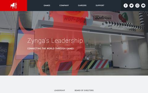 Screenshot of Team Page zynga.com - Zynga Leadership Team - Zynga - captured Nov. 8, 2018