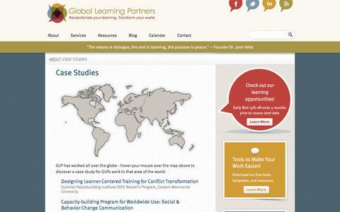 Screenshot of Case Studies Page globallearningpartners.com - Case Studies  Global Learning Partners - captured Aug. 8, 2017