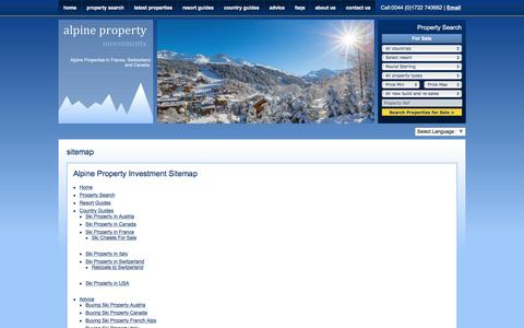 Screenshot of Site Map Page alpinepropertyinvestments.co.uk - Alpine Property Investments Ltd | French & Swiss Property For Sale. - captured May 29, 2017