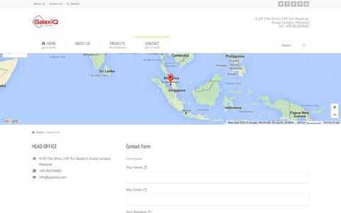 Screenshot of Contact Page galaxiq.com - Contact Us | GalaxiQ - captured Dec. 7, 2015