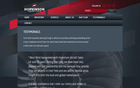 Screenshot of Testimonials Page hopkinsonassociates.com - TESTIMONIALS | John Hopkinson & Associates - captured Feb. 11, 2016