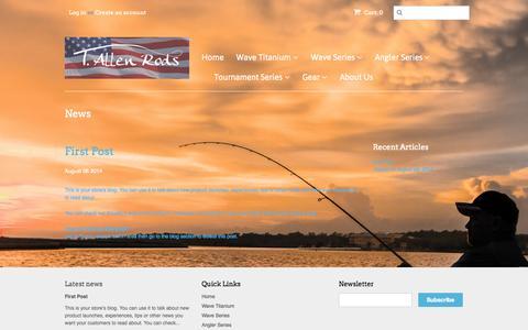 Screenshot of Press Page tallenrods.com - News – t-allen-rods - captured Nov. 5, 2014