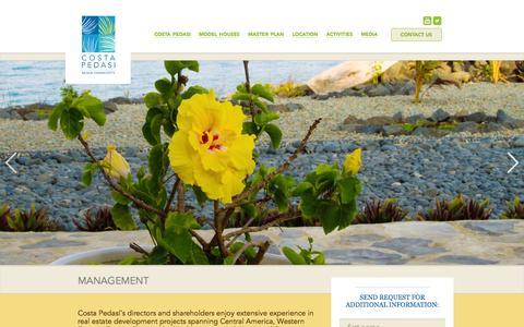 Screenshot of Team Page costapedasi.com - MANAGEMENT | Pedasi Panama | Pedasi Real Estate | Costa Pedasi Beachfront Real Estate - captured Sept. 30, 2014