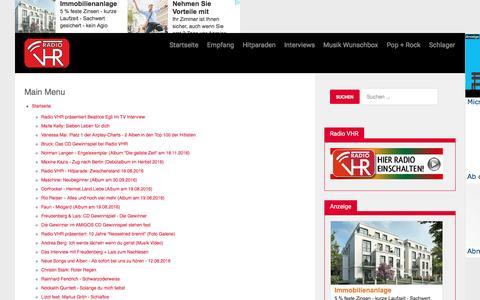 Screenshot of Site Map Page radio-vhr.de - | Radio VHR -  | Radio VHR - captured Aug. 17, 2016