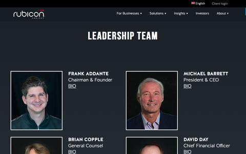 Screenshot of Team Page rubiconproject.com - Leadership -  Rubicon Project - captured Dec. 4, 2017
