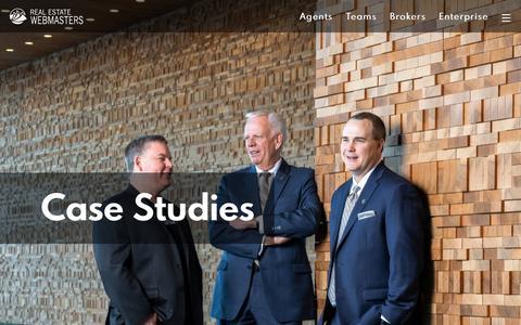 Screenshot of Case Studies Page realestatewebmasters.com - Website Case Study   Real Estate Webmasters - captured July 26, 2019