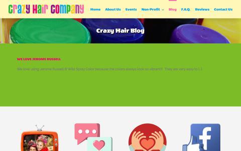 Screenshot of Blog crazyhaircompany.com - Crazy Hair Blog – Have a crazy hair day!!! - captured Jan. 29, 2018