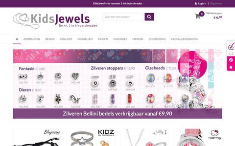 Screenshot of Home Page kinder-sieraden.nl - De webshop voor uw zilveren kindersieraden               -         KidsJewels - captured Oct. 15, 2018