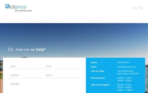 Screenshot of Services Page c3group.com.au - Services - C3 Group - captured Feb. 22, 2018