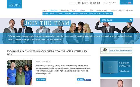 Screenshot of Press Page azure.com.mt - News   About Us - captured Oct. 24, 2016