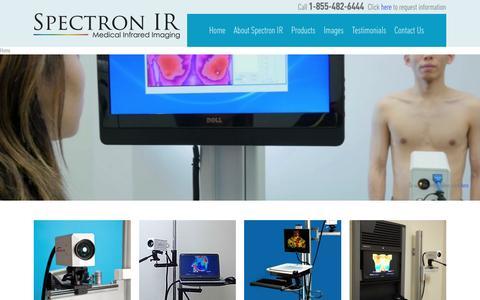 Screenshot of Home Page spectronir.com - Spectron IR- Medical Infrared Imaging Solutions - captured Dec. 20, 2016