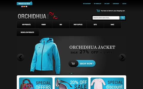 Screenshot of Home Page orchidhua.com - Home page - captured Sept. 30, 2014
