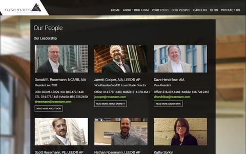 Screenshot of Team Page rosemann.com - Our People - Rosemann & Associates, P.C. - captured Nov. 5, 2014