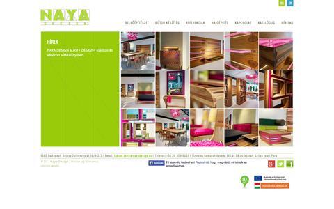 Screenshot of Press Page nayadesign.eu - Híreink   Naya Design - captured Sept. 30, 2014