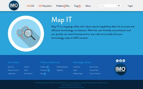 Screenshot of Maps & Directions Page e-imo.com - Map IT | IMO Intelligent Medical Objects, Inc. - captured Nov. 26, 2016