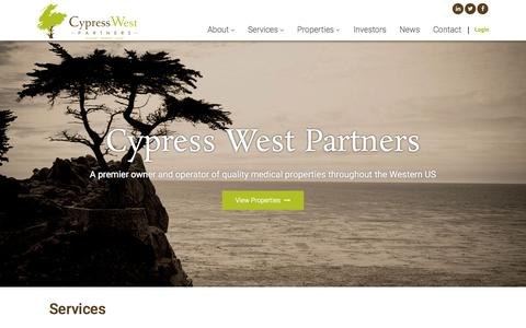 Screenshot of Home Page cypresswestpartners.com - Home | Cypress West Partners - captured June 18, 2015