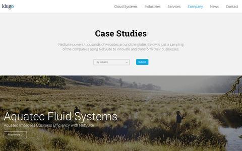 Screenshot of Case Studies Page klugogroup.com - Case Studies - Klugo Group - captured Nov. 27, 2016