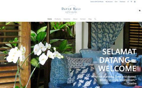 Screenshot of Home Page davidbali.com - Selamat Datang ~ Welcome - David Bali - captured Feb. 8, 2016