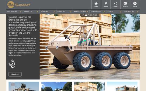 Screenshot of Home Page supacat.com - Home - Supacat - High mobility vehicles - captured Sept. 21, 2018