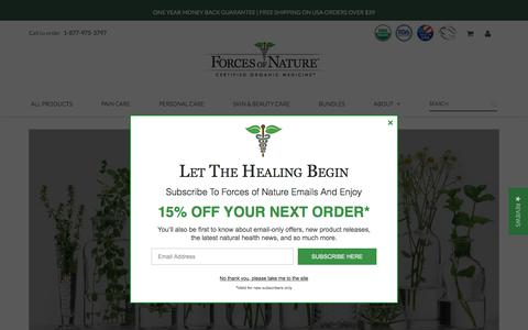 Screenshot of Home Page forcesofnaturemedicine.com - Organic and FDA Approved Homeopathic Medicines – Forces of Nature Medicine - captured Sept. 23, 2018
