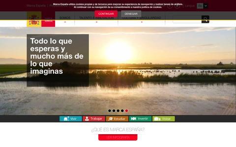 Screenshot of Home Page marcaespana.es - Marca España - captured Feb. 19, 2016