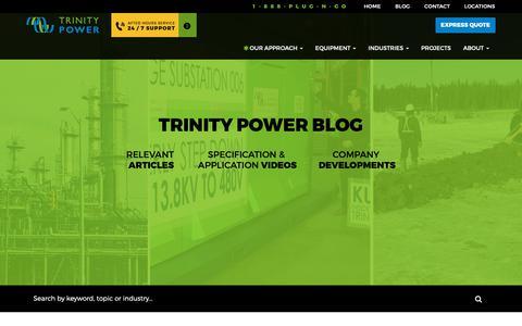 Screenshot of Blog trinitypower.com - Blog - Trinity Power - captured Oct. 20, 2018