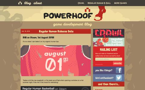 Screenshot of Home Page powerhoof.com - Powerhoof | I will hoof you! - captured July 20, 2018