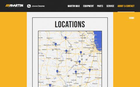 Screenshot of Locations Page meoi.com - Locations - Martin Equipment - captured Oct. 3, 2014
