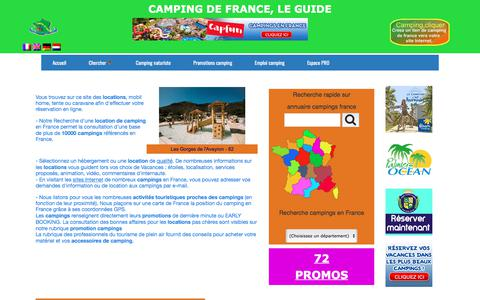 Screenshot of Home Page campingdefrance.com - Camping de France - guide camping - captured March 13, 2018