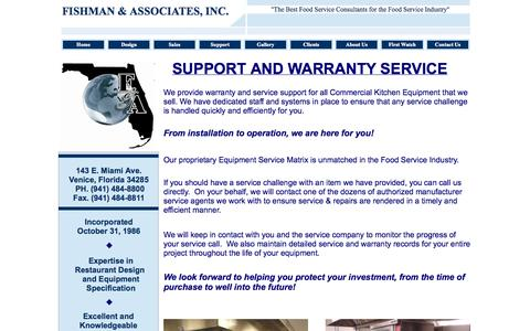 Screenshot of Support Page fishmaninc.com - SUPPORT - captured Oct. 6, 2014