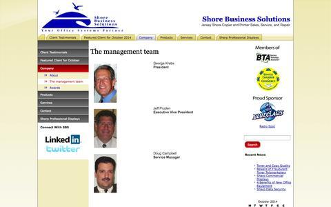 Screenshot of Team Page shorebusinesssolutions.com - The management team | Shore Business Solutions - captured Oct. 9, 2014