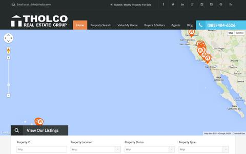 Screenshot of Home Page tholcorealestategroup.com - Tholco Real Estate Group - captured Oct. 7, 2014