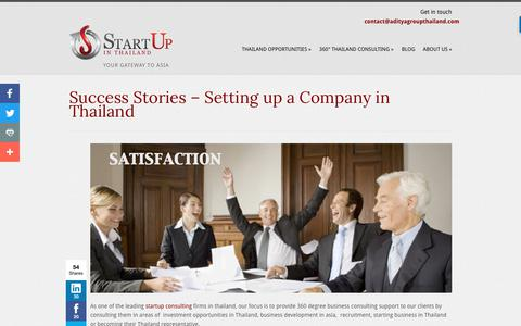 Screenshot of Case Studies Page startupinthailand.com - Success Stories – Setting Up a Business and Company in Thailand - captured Oct. 6, 2017