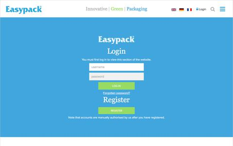 Screenshot of Login Page easypack.net - Easypack - UK - captured July 14, 2017