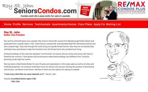 Screenshot of About Page seniorscondos.com - Seniors Condos - captured Nov. 10, 2018