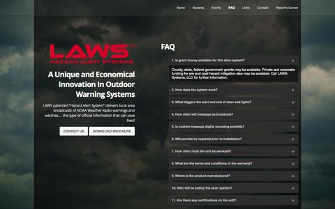 Screenshot of FAQ Page laws-systems.com - Laws Systems – FAQ - captured Oct. 1, 2014