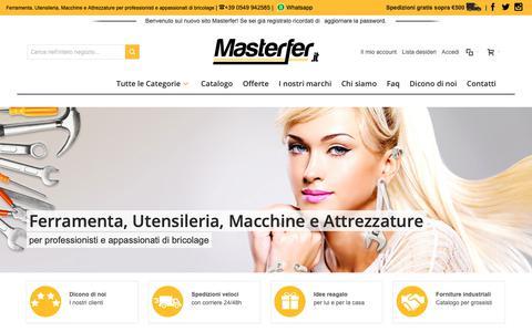 Screenshot of Home Page Privacy Page masterfer.it - Masterfer - Ferramenta, Utensileria, Macchine e Attrezzature per professionisti e appassionati di bricolage - captured Dec. 5, 2018