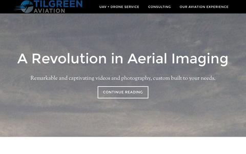 Screenshot of Home Page tilgreen.aero - Tilgreen Aviation Inc - Because Aviation is Exciting and Connects us all. - captured Oct. 7, 2014