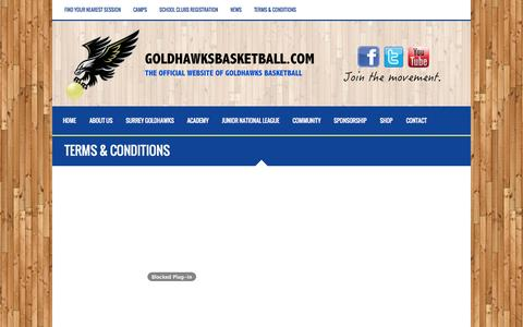 Screenshot of Terms Page goldhawksbasketball.com - Terms & Conditions - Goldhawks Basketball - captured Oct. 28, 2014