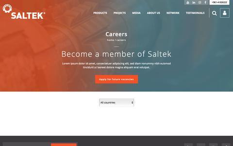 Screenshot of Jobs Page saltek.com.lb - Saltek - Bakery Equipment - Careers - captured Oct. 2, 2018