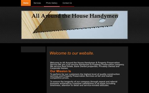 Screenshot of Home Page allaroundthehousehandymen.com - All Around the House Handyman - Home - captured Feb. 5, 2016