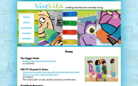 Screenshot of Press Page vivevita.com - Press | ViveVita - MompreneurPlus9 - captured Oct. 9, 2014