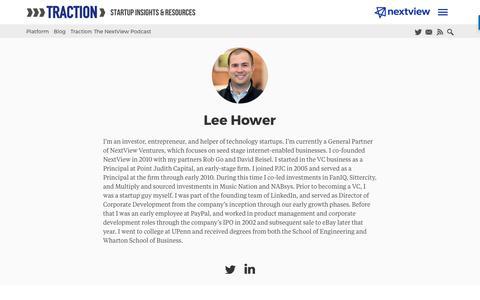 Screenshot of Blog nextviewventures.com - Lee Hower, Author at NextView Ventures - captured April 17, 2017