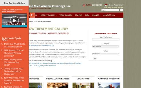 Screenshot of Products Page 3blindmiceusa.com - Window Treatment Gallery - 3 Blind Mice Window Coverings - captured Nov. 28, 2016